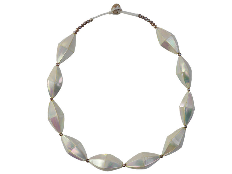 Necklace - Mother Of Pearl Double Prism Necklace