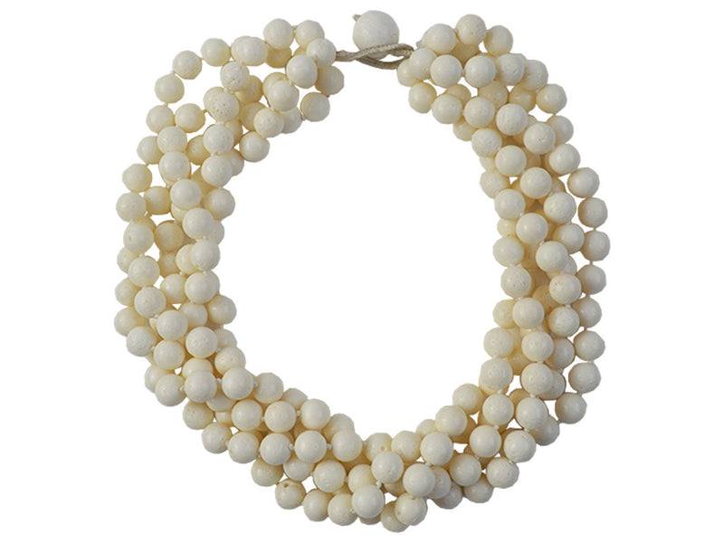 Necklace - White Coral 5 Strand Necklace