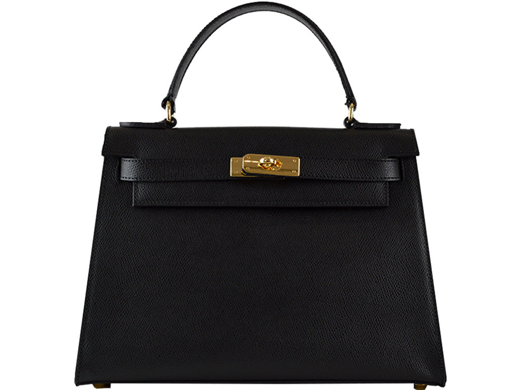 Manon Large Palmellato Leather Handbag - Black
