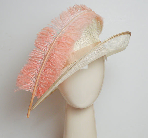Feather hat for wedding outfit