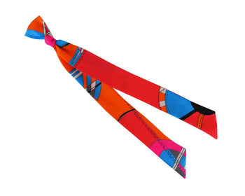 Scarf - Ribbon Silk Scarf - Distortion Circus
