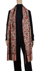 Scarf - Scarf  Floral Jacquard - Camel\Red