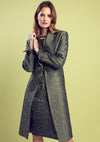 Dark green dress coat and outfit for mother of the brides