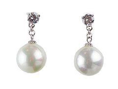Mother of Pearl with Swarovski Crystal Studs Earrings