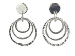 Silver Earrings - Small Circles
