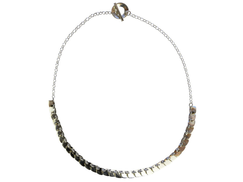 Silver Necklace - Squares