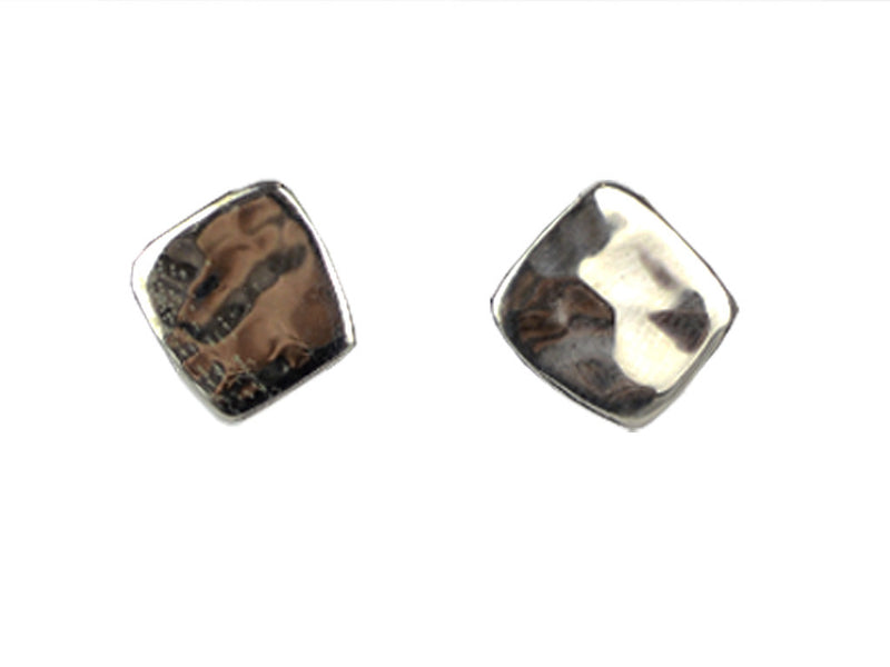 Silver Earrings - Square Stud