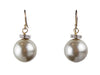 14 mm Drop Hook Mother of Pearl Diamante Earrings - Various Colours