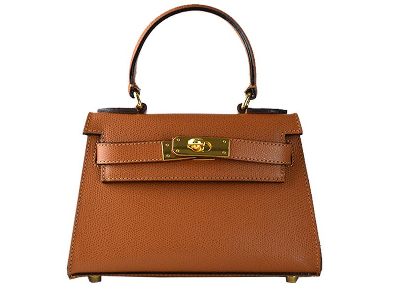 Manon Mignon Palmellato Leather Handbag - Tan