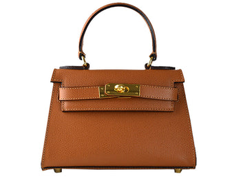 Manon Mignon - Palmellato Leather Handbag - Tan