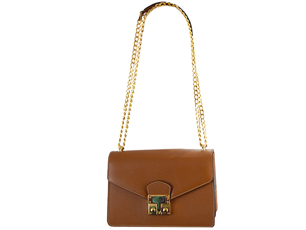 Coppelia Palmellato Leather Shoulder Bag - Tan