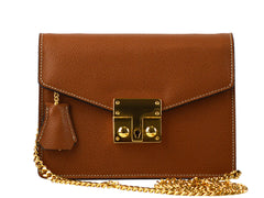 Small Coppelia Palmellato Leather Shoulder Bag - Tan
