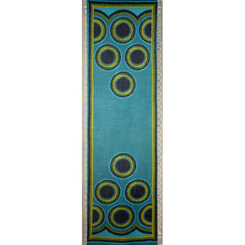 Scarf with Circles - Teal\Turquoise