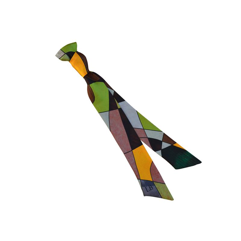 Ribbon Silk Scarf - Sagrada Heath