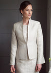 Raw Silk Jacket in Duck-egg and Navy - Margery