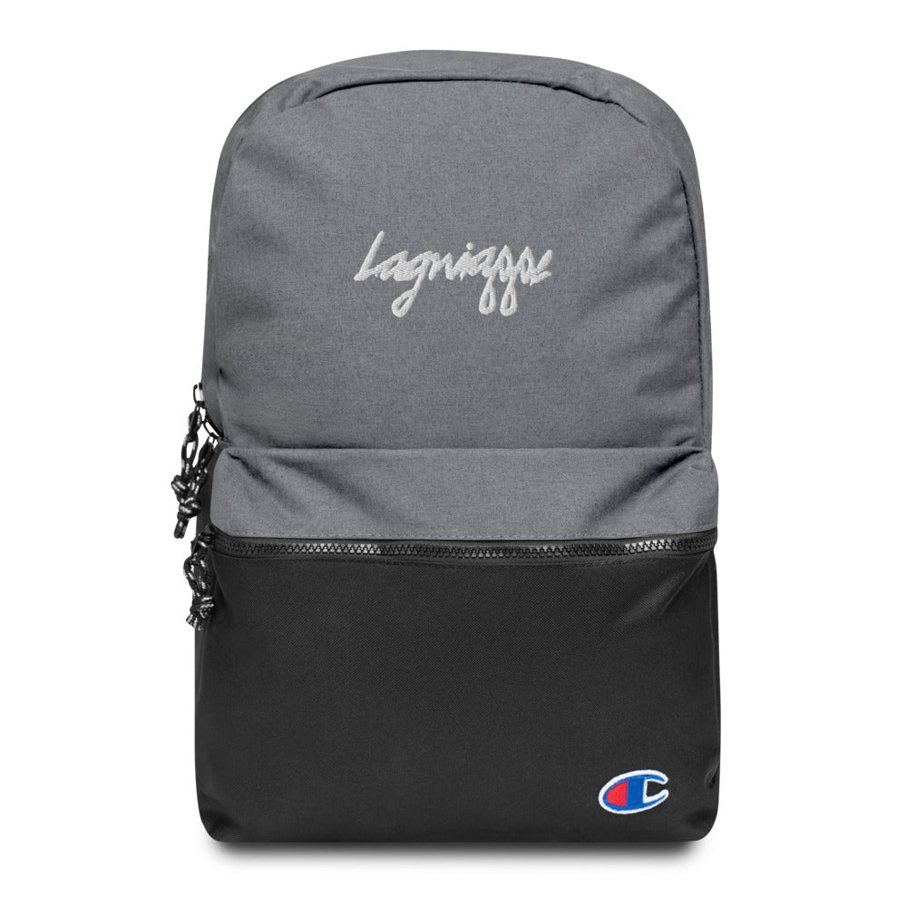 "The Lagniappe ""Mon Tresor"" Embroidered Champion Backpack"