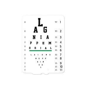 """2020 Eye Chart Doubloon"" stickers"