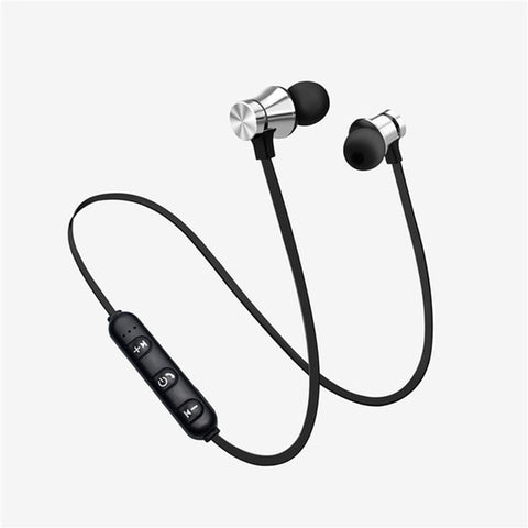Sports Magnet Stereo Bluetooth Earphone With HD Mic