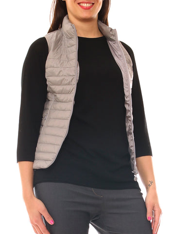 Gilet donna in nylon trapuntato slim fit