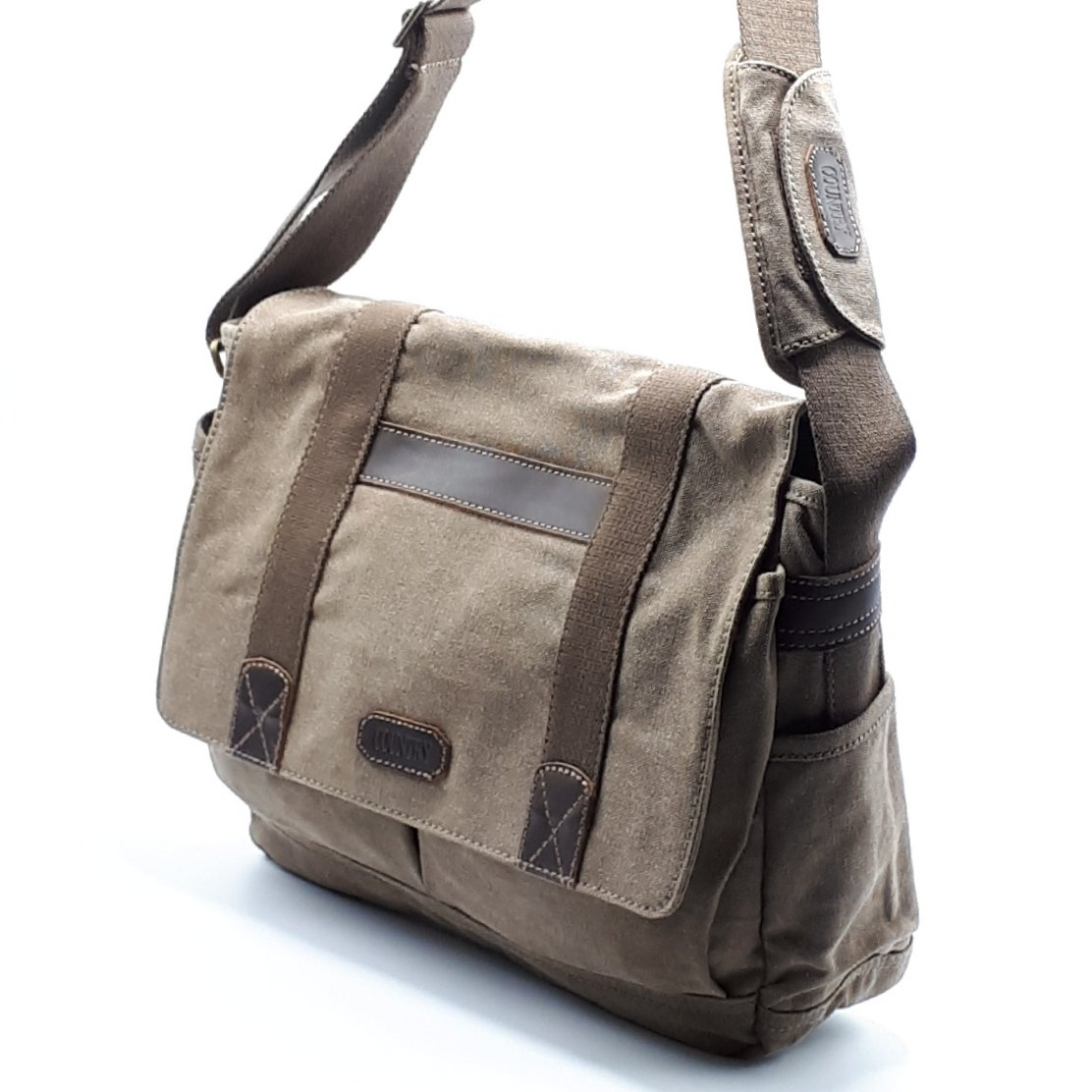 Porta PC unisex in canvas e pelle - Luanaromizi.com