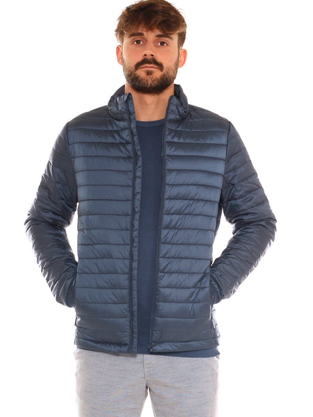 Piumino uomo in nylon trapuntato ultra light collo alto - Luanaromizi.com