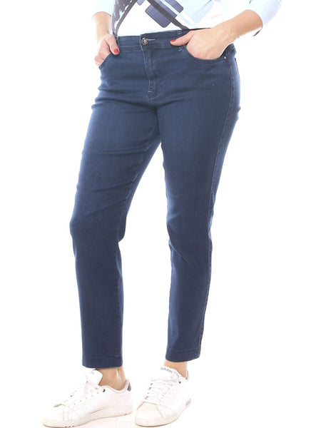 Jeans a sigaretta donna in denim super stretch taglia morbida - Luanaromizi.com