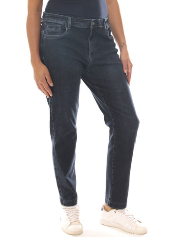 Jeans a sigaretta donna in denim stretch taglia conformata