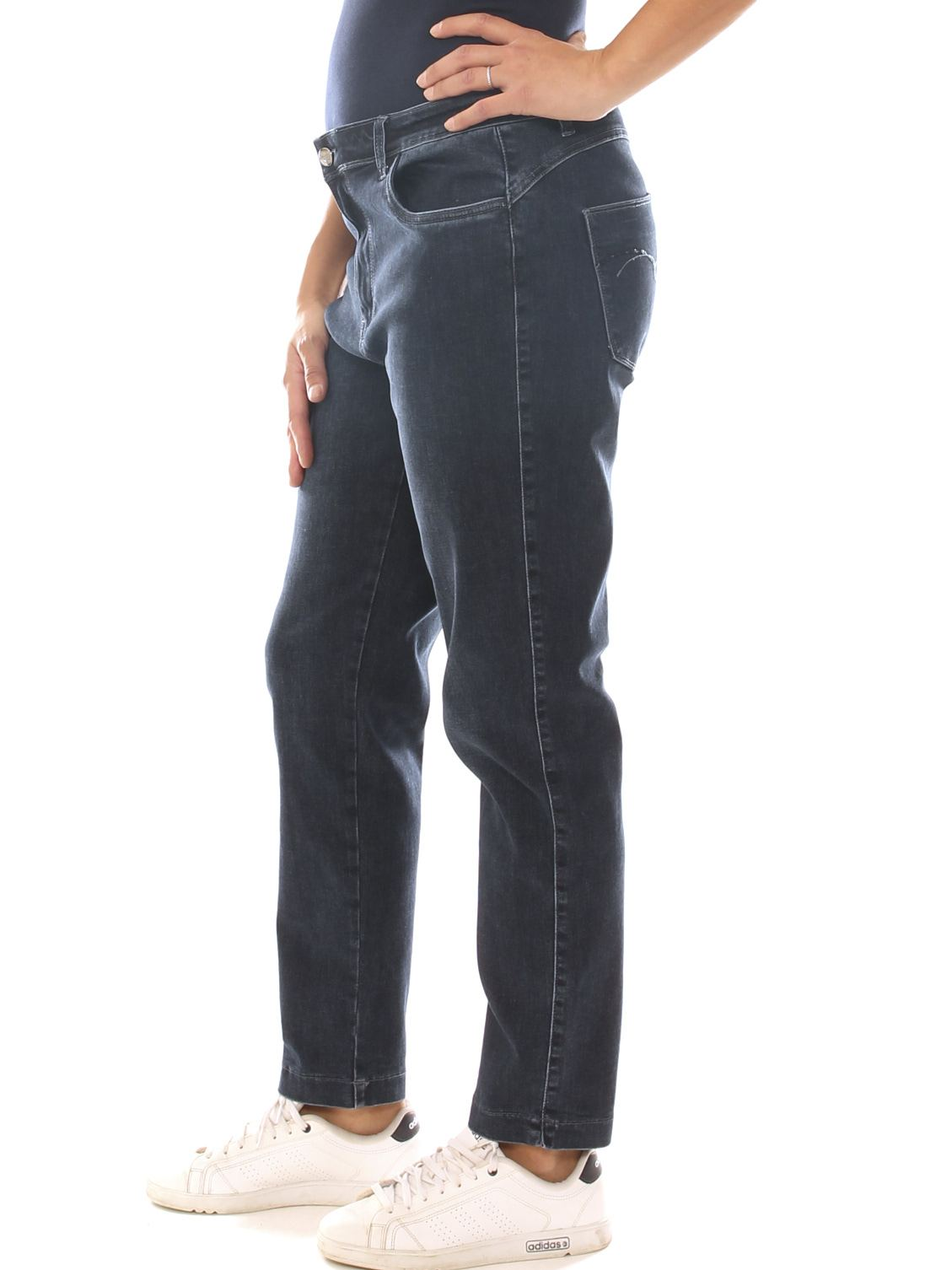 Jeans a sigaretta donna in denim stretch taglia conformata - Luanaromizi.com