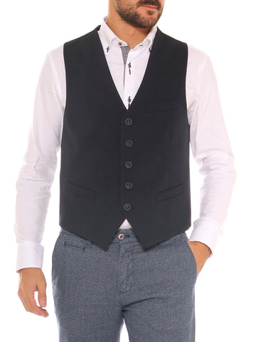 Gilet elegante uomo in jersey stretch