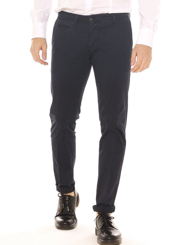 Pantalone chino uomo slim fit in cotone stretch tinto in capo - Luanaromizi.com
