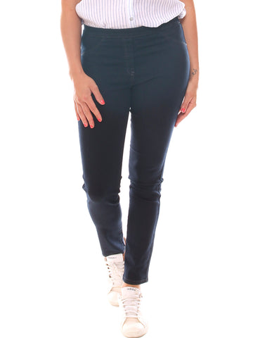 Jeans skinny donna in denim super stretch con elastico taglia morbida - Luanaromizi.com