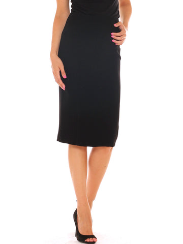 Gonna longuette donna a tubino in jersey stretch vita alta - Luanaromizi.com