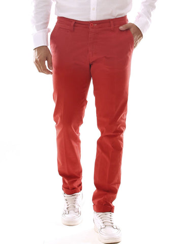 Pantalone chino uomo in cotone stretch