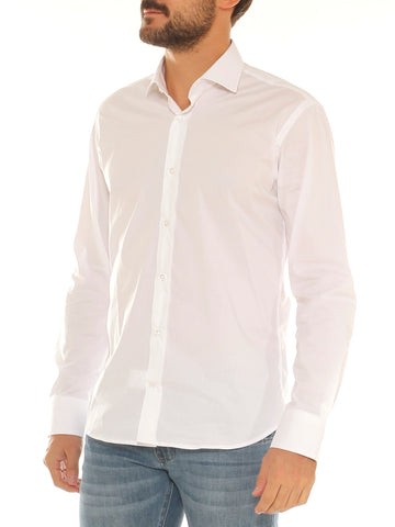 Camicia uomo slim fit in cotone stretch collo a punta - Luanaromizi.com
