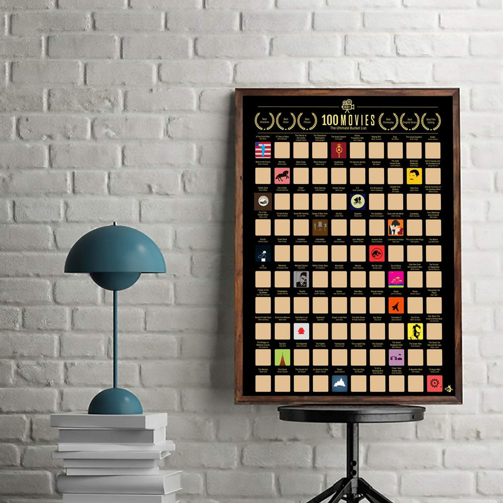 100 Movies Bucket-List Scratch Off Poster