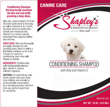 Load image into Gallery viewer, Shapleys Canine Care Conditioning Shampoo LABEL