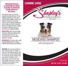 Load image into Gallery viewer, Shapleys Canine Care Medicated Shampoo LABEL
