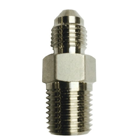 "1/4"" SS JIC x 1/4"" Male NPT Straight Fitting"