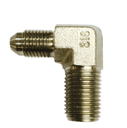 "1/4"" SS JIC x 1/4"" Male NPT Elbow Fitting"