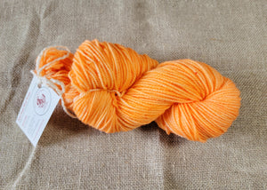 Hand Dyed Wool Yarn - Tangerine