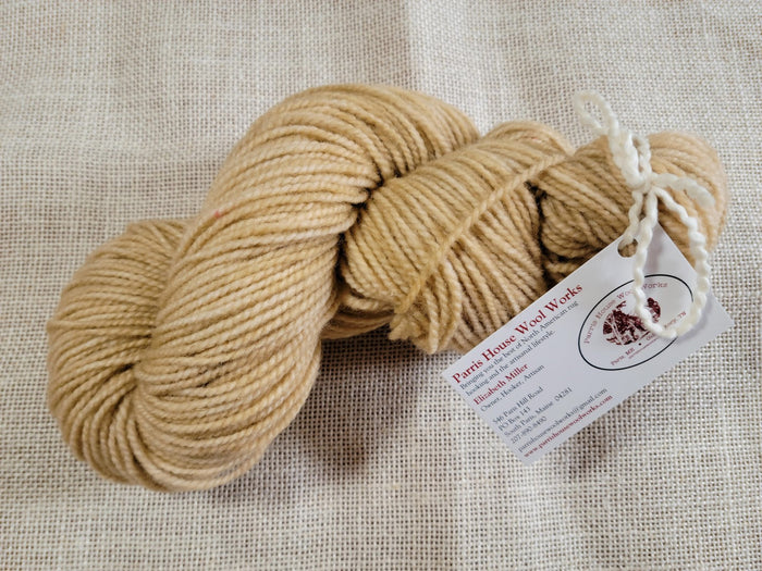 Hand Dyed Wool Yarn - Straw Bale