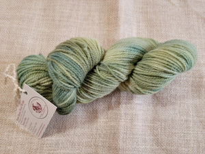 Hand Dyed Wool Yarn - Variegated Green Foliage