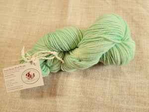 Hand Dyed Wool Yarn - Smooth Mint