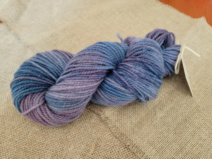 Hand Dyed Wool Yarn - Limited Edition Maine Blueberry