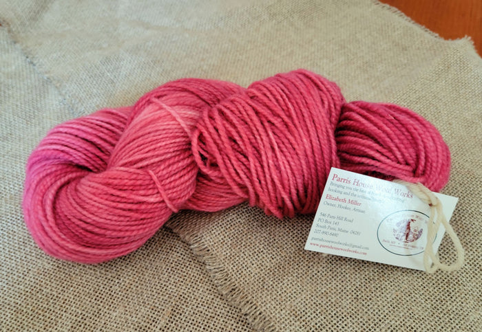 Hand Dyed Wool Yarn - Hot Pink