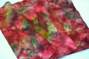 "Wool, Fat Quarter - ""September"" - Fall Series - Hand Dyed Multi-Dye Wool - Rug Hooking, Applique, Craft"