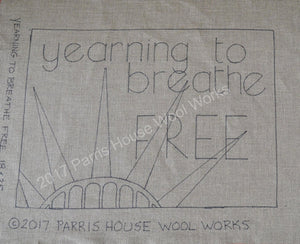 "Yearning to Breathe Free *PATTERN ONLY* 18"" x 25""  Hooked Rug Pattern"
