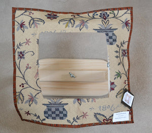 "Window Style Frame Cover - Window size 10.5"" x 10.5"" - Fits our Bear Pond Wood Works Small Swivel frame and more - 1806 Tapestry"