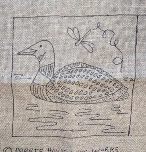 "Little Sebago Loon *PATTERN ONLY* 12"" x 12""  Hooked Rug Pattern"