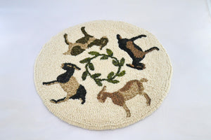 "Goat Go Round Chair Pad - 12"" Rug Hooking Kit-Round"